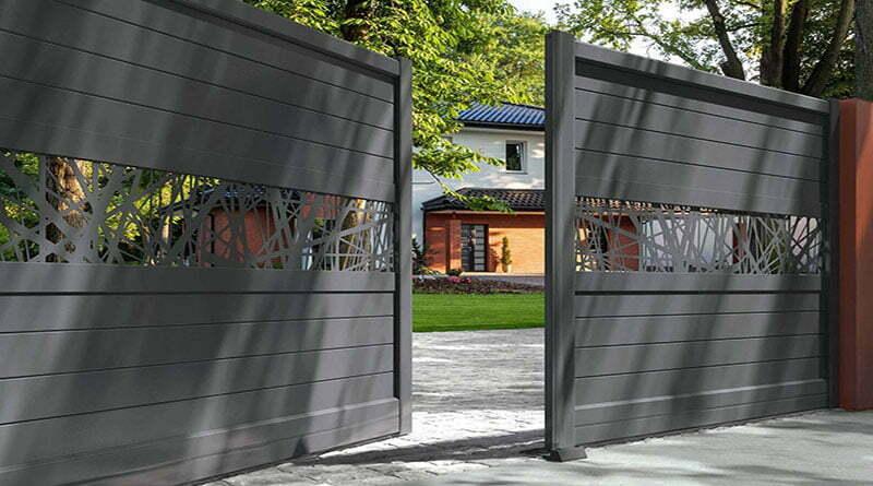 portail aluminium contemporain